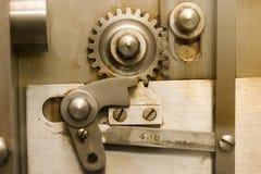 Engranajes 1 de la caja fuerte Fotografía de archivo