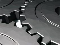 engranajes 3D que trabajan en tándem Stock de ilustración