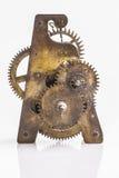 Engranajes antiguos del reloj Fotos de archivo libres de regalías
