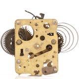 Engranajes antiguos del reloj Foto de archivo libre de regalías