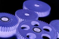 Engranajes azules Foto de archivo