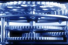 Engranajes azules Fotos de archivo libres de regalías