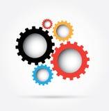 Engranajes coloridos ilustración del vector