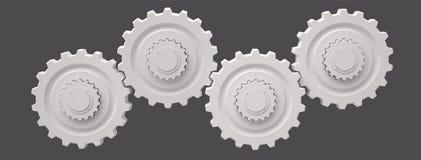 Engranajes, 3D Foto de archivo libre de regalías