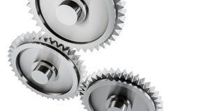 Engranajes de acero Imagen de archivo libre de regalías