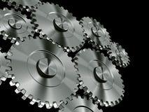 Engranajes de aluminio Imagenes de archivo
