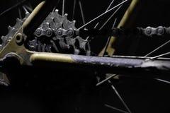 Engranajes de la bici de montaña Foto de archivo libre de regalías