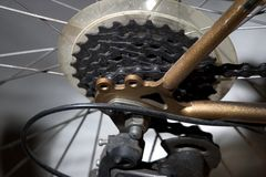 Engranajes de la bicicleta Fotografía de archivo
