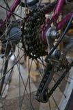 Engranajes de la bicicleta Imágenes de archivo libres de regalías