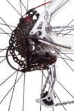 Engranajes de la bicicleta y derailleur trasero Imágenes de archivo libres de regalías