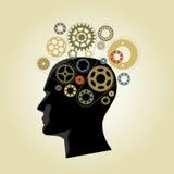 Engranajes de la mente fotografía de archivo