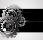 Engranajes de la tecnología de la máquina bacground retro del mecanismo de la rueda dentada Foto de archivo libre de regalías