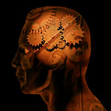 Engranajes del cerebro Fotos de archivo