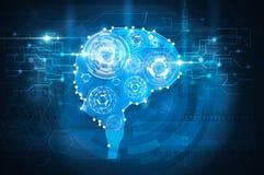 Engranajes del cerebro stock de ilustración