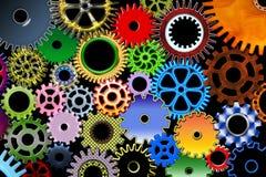 Engranajes del color Imagen de archivo
