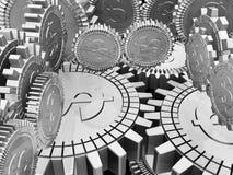 Engranajes del dinero Foto de archivo libre de regalías