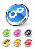 Engranajes del icono Imagen de archivo libre de regalías