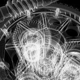 Engranajes del marco del alambre Foto de archivo