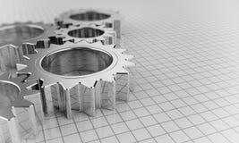 Engranajes del metal Fotografía de archivo libre de regalías