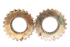 Engranajes del metal Fotos de archivo libres de regalías