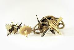 Engranajes del reloj Imágenes de archivo libres de regalías