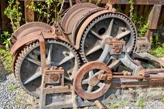 Engranajes del tren del vapor Foto de archivo libre de regalías