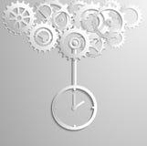 Engranajes del vector Illuastratoin del reloj Imagen de archivo