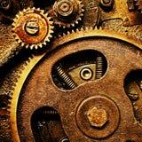 Engranajes del viejo mecanismo Foto de archivo libre de regalías