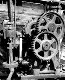 Engranajes en blanco y negro Imagen de archivo libre de regalías