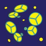 Engranajes en fondo azul Ilustración del vector libre illustration