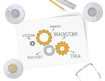 Engranajes en la forma de ideas para el negocio Imágenes de archivo libres de regalías