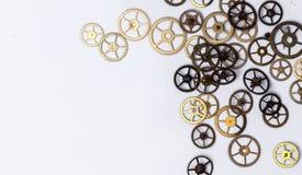 Engranajes en la tabla Foto de archivo libre de regalías