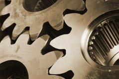 Engranajes en marrón Fotografía de archivo