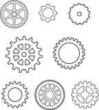 Engranajes en vector Imagenes de archivo