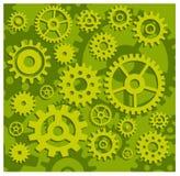 Engranajes en verde Imágenes de archivo libres de regalías
