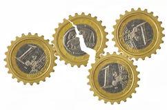 Engranajes euro Fotografía de archivo