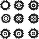 Engranajes fijados ilustración del vector