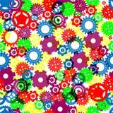 engranajes inconsútiles Color-llenos Imagenes de archivo