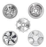 Engranajes industriales de la plata metalizada - 2 stock de ilustración