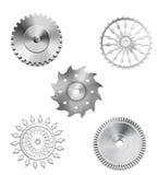 Engranajes industriales de la plata metalizada - 3 ilustración del vector