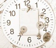 Engranajes mecánicos del reloj Fotos de archivo