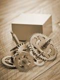 Engranajes mecánicos del reloj Imágenes de archivo libres de regalías