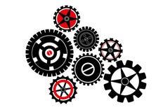 Engranajes mecánicos - ejemplo Fotografía de archivo