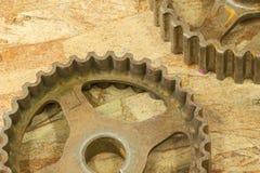 Engranajes oxidados Imagen de archivo libre de regalías
