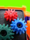 Engranajes plásticos Fotos de archivo libres de regalías