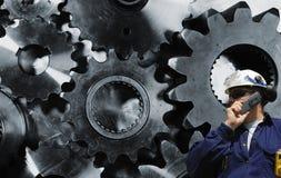 Engranajes Titanium e ingeniería Imagenes de archivo