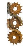 Engranajes viejos del metal Foto de archivo libre de regalías