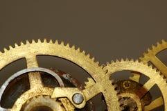 Engranajes viejos del reloj Fotografía de archivo libre de regalías
