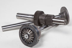 Engranajes y ejes mecánicos Fotografía de archivo