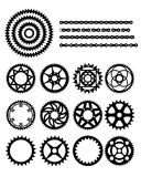Engranajes y encadenamiento de la bicicleta Imagen de archivo libre de regalías